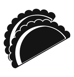 Empanadas de pollo icon simple style vector
