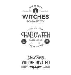 Halloween 2016 party invitation label templates vector image vector image