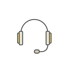 headset colorful icon vector image vector image