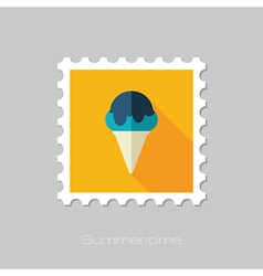 Ice Cream flat stamp Summer Vacation vector image vector image