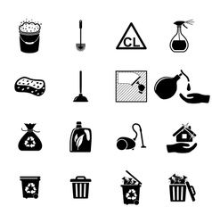 Icons set Cleaning vector image