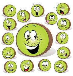 Kiwi fruit cartoon vector