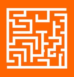 Labyrinth maze conundrum white icon vector