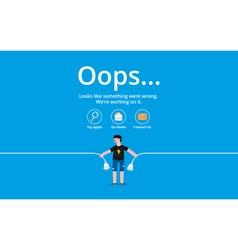 Oops error page vector image