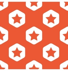 Orange hexagon star pattern vector image vector image