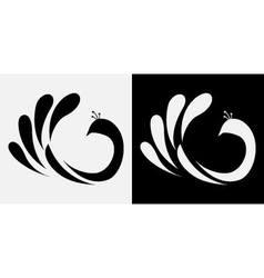Peacock abstract icon vector