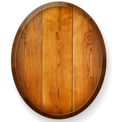 Realistic wooden round board vector image vector image