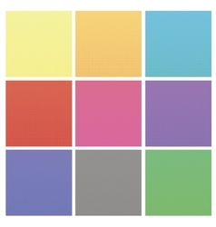 Set of Colorful Halftone Backgrounds vector image vector image