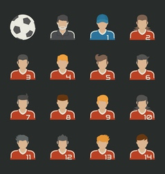Sport football icons set vector image