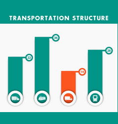transportation structure infographics elements in vector image vector image
