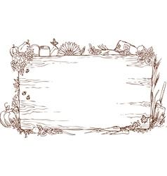 Woody farm sign vector