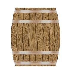 wooden wine barrel vector image