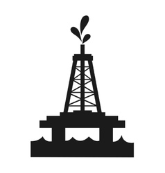 Oil tower icon vector