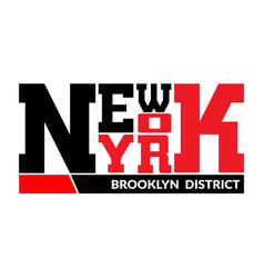 T shirt typography graphic new york brooklyn vector