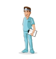 Doctor man cartoon design vector