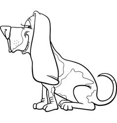 Basset hound dog cartoon for coloring vector