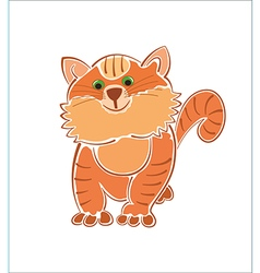 Ginger furry fat cat vector