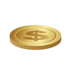 single coin icon image vector image