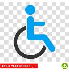 Disabled Person Eps Icon vector image