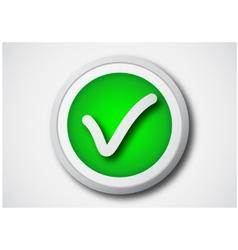 chec kmark button vector image