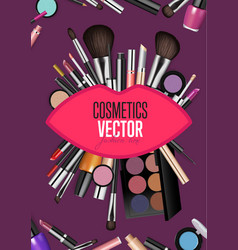 Modern cosmetics accessories concept vector