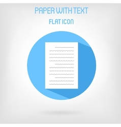 Paper list icon in flat style vector image