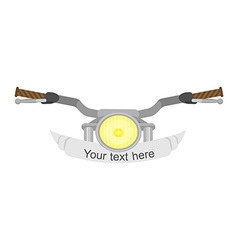 Motorcycle steering wheel vector