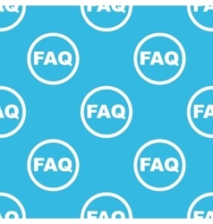 Faq sign blue pattern vector