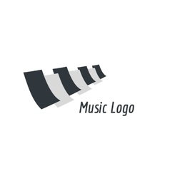 Music piano keys logo icon template melody vector