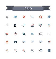Seo flat icons vector