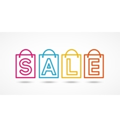 Sale in trendy linear style vector