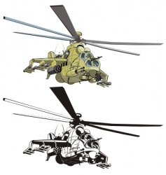 Cartoon strike helicopter vector