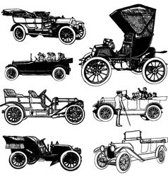 Antique cars vector