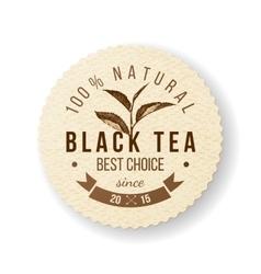 Black Tea label vector image vector image