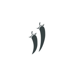 chilli icon simple vector image