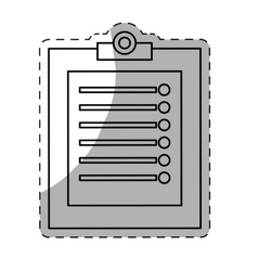 Clipboard with checklist icon image vector
