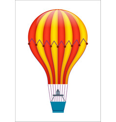 colorful air balloon isolated icon vector image