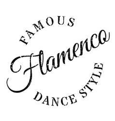 Famous dance style flamenco stamp vector