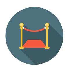 Golden fence with red carpet vector