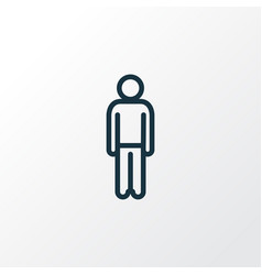 human outline symbol premium quality isolated man vector image vector image
