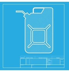 Jerrycan oil sign jerry can oil sign white vector