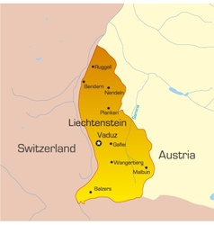 Liechtenstein country vector image