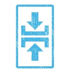 Press vertical direction icon rubber stamp vector