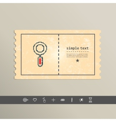Simple stylish pixel magnifying glass icon design vector image vector image