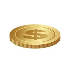 single coin icon image vector image