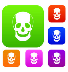 skull set collection vector image
