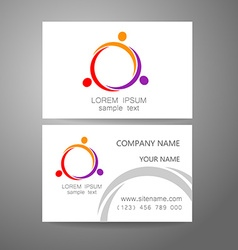 Team company logo identity template vector