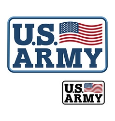 Us army emblem for army of america flag of united vector