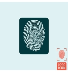 Fingerprint icon isolated vector