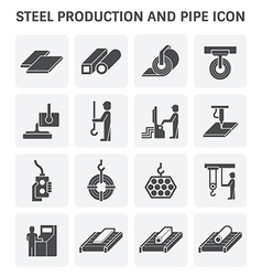 Pipe production icon vector image